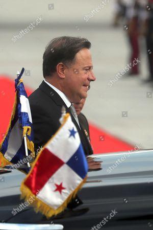 President of Panama Juan Carlos Varela arrives to San Luis Talpa, El Salvador, 31 May 2019. Varela visits El Salvador to attend on 01 June the inauguration on Salvadoran elected president Nayib Bukele.