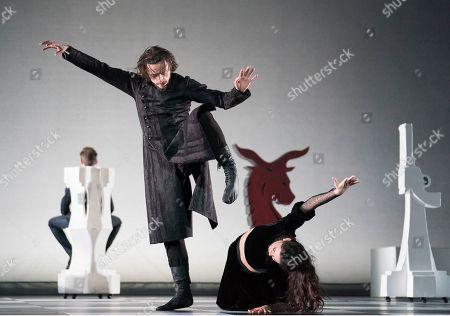 Elena Ilinykh as Tsarina, Sergei Polunin as Rasputin,