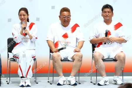 (L-R) Satomi Ishihara, Mikio Date, Takeshi Tomizawa