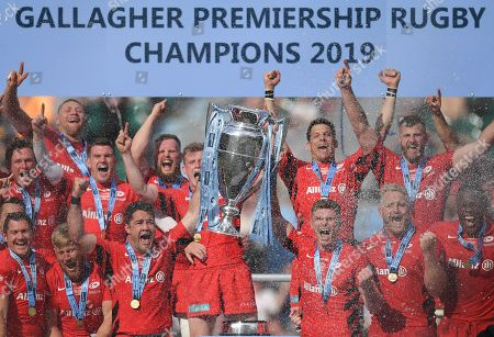 Editorial photo of Exeter Chiefs v Saracens, The Gallagher Premiership Rugby Final, Rugby Union, Twickenham Stadium, London, UK - 01 Jun 2019