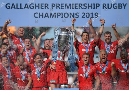 Editorial picture of Exeter Chiefs v Saracens, The Gallagher Premiership Rugby Final, Rugby Union, Twickenham Stadium, London, UK - 01 Jun 2019
