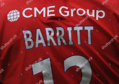 The shirt of Brad Barritt of Saracens