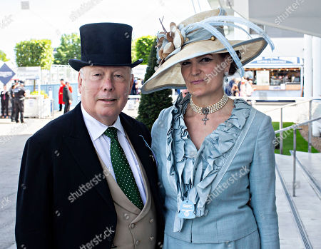 Lord Julian Fellowes and his wife Emma.