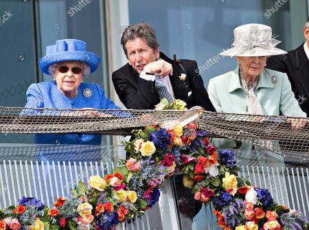 Queen Elizabeth II, John Warren and Princess Alexandra.