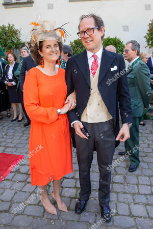 Stock Picture of Princess Alexandra and Count Stefano Hunyady of Kethely