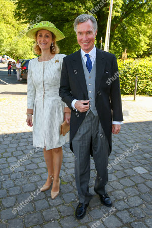 Stock Picture of Hereditary Grand Duke Guillaume of Luxembourg of Luxembourg and Princess Sibilla of Luxembourg