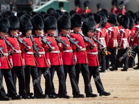Trooping Colour rehearsal London Fotos de stock (exclusivo
