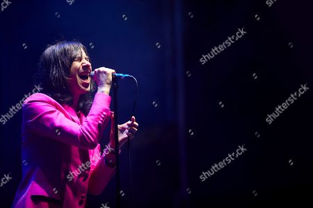 Scottish band 'Primal Scream' singer Bobby Gillespie performs on stage during the second day of the Primavera Sound music festival in Barcelona, Catalonia, north eastern Spain, 1 June 2019, an event running from 30 May until 01 June.