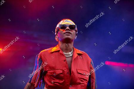Stock Image of Wizkid aka Ayodeji Ibrahim Balogun