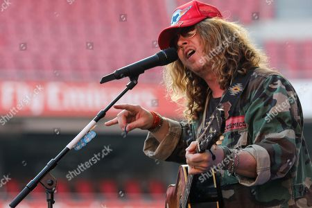 Ben Kweller performs on stage as part of Ed Sheeran concert at Luz Stadium, Lisbon Portugal, 01 June 2019.