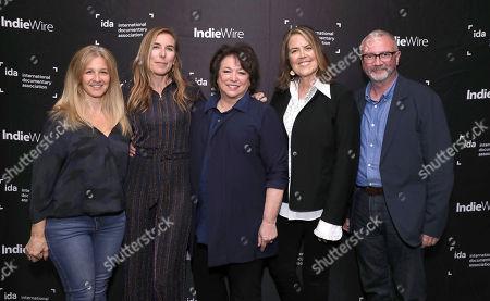Producer Jessica Levin, Director Amy Berg, Director Susan Lacy, Director Maria Zenovich and IDA Executive Director Simon Kilmurry