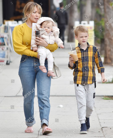 Hilary Duff, Banks Violet Bair and Luca Cruz Comrie
