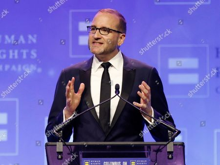 Stock Image of Human Rights Campaign president Chad Griffin speaks during the HRC Columbus, Ohio Dinner at Ohio State University