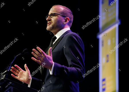 Human Rights Campaign president Chad Griffin speaks during the HRC Columbus, Ohio Dinner at Ohio State University