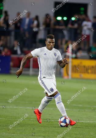 San Jose Earthquakes Defender (31) Harold Cummings during an MLS soccer match between the D.C. United and the San Jose Earthquakes at Audi Field in Washington DC