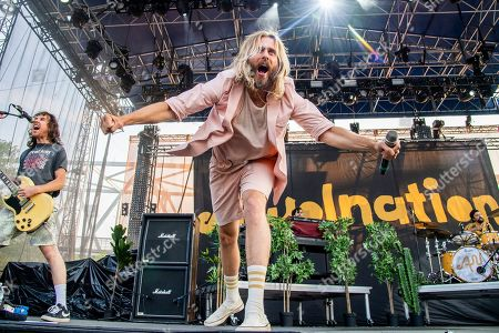 Aaron Bruno of AWOLNATION performs at the Bunbury Music Festival, in Cincinnati