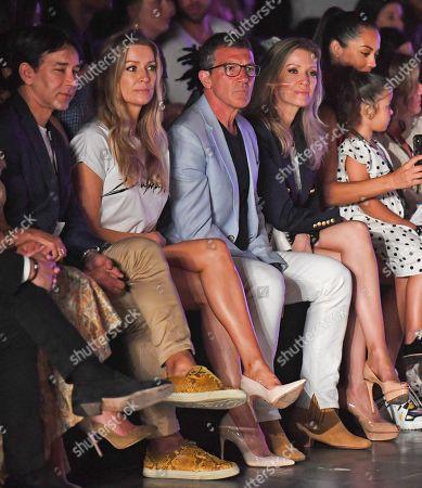 Rene Ruiz, Barbara Kempel, Antonio Banderas and Nicole Kimpel