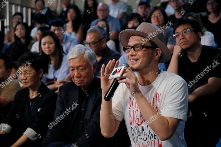 "Stock Image of Hong Kong singer Anthony Wong shares his view on the military crackdown on Tiananmen Square in Hong Kong. Thirty years after it was crushed by China's army, the Tiananmen Square pro-democracy movement is being commemorated in art, literature, public rallies and even synth pop. Wong's latest release, ""Is it a crime,"" recorded with longtime musical partner Tats Lau is finding an audience by doing just that. The two make up the group Tat Ming Pair, long a staple of local music scene known as Cantopop for the Cantonese language in which the music is recorded"