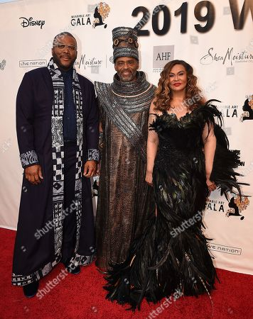 Tyler Perry, Richard Lawson, Tina Knowles