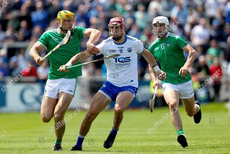 Waterford vs Limerick. Waterford's Maurice Shanahan with Aaron Gillane and Dan Morrissey of Limerick