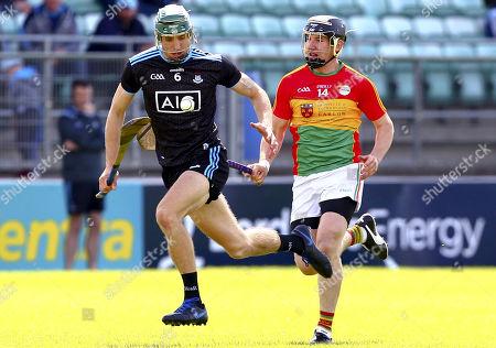 Stock Image of Carlow vs Dublin. Dublin's Chris Crummey in action against Carlow's Seamus Murphy