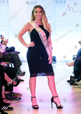 #4 Emily Davies sponsor Grace Beauty Therapies walking the catwalk in Black Cocktail Wear in the  Miss England Midlands Semi Final held at HighLine / Lake Lounge Resorts World Birmingham.