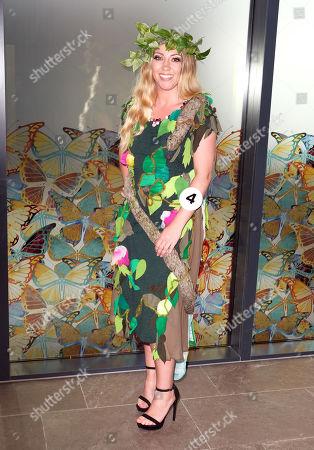 #4 Emily Davies sponsor Grace Beauty Therapies photocall in Eco Wearat the Miss England Midlands Semi Final heldd at High Line / Lake Lounge Resorts World, Birmingham.