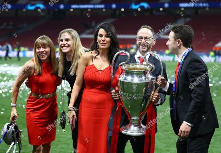 Liverpool president Michael Gordon and Linda Pizzuti celebrate at the end with the trophy
