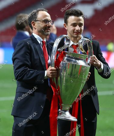 Liverpool president Michael Gordon with the trophy