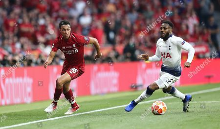 Trent Alex-Arnold of Liverpool and to Danny Rose of Tottenham Hotspur