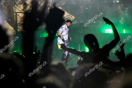 Walshy Fire of the band Major Lazer performs at the 2019 Governors Ball Music Festival at Randall's Island Park, in New York
