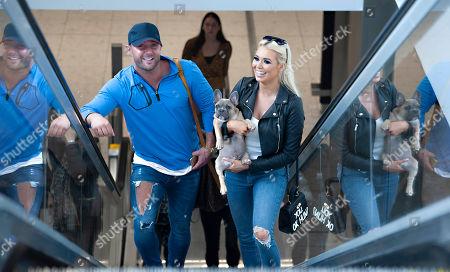 Stock Photo of Ex 'Love Islander' Shannen Reilly McGrath spotted in Dublin airport with Ex 'Geordie Shore' member Ricci Guarnaccio