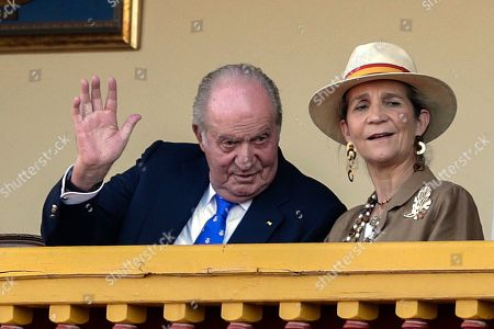 Naomi Osaka, Dominika Cibulkova. Spain's former King Juan Carlos, left, waves next to his daughter Princess Elena during a bullfight at the bullring in Aranjuez, Spain, . Former King Juan Carlos withdraws from official events and retires from public life from June 2, on the five-year anniversary of his abdication of the throne