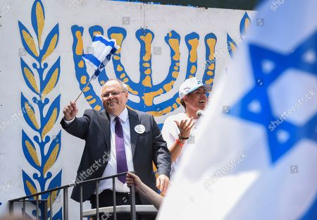 Dani Dayan (L), Consul General of Israel in New York, during the Celebrate Israel Parade on Fifth Avenue in New York, New York, USA, 02 June 2019. The theme of this year's parade, 'Only In Israel' celebrates the diverse State of Israel and features musicians, dancers, floats and marching bands.
