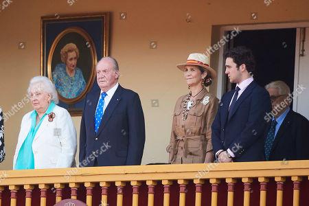 Infanta Pilar, Juan Carlos of Spain, Princess Elena, Felipe de Marichalar y Borbon