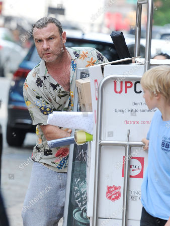 Editorial image of Liev Schreiber out and about, New York, USA - 02 Jun 2019