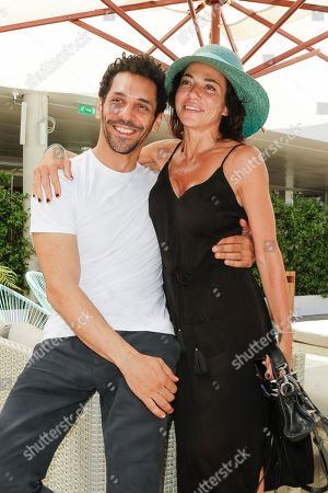 Tomer Sisley and his companion Sandra Zeitoun