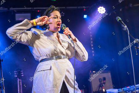 Editorial picture of Bishi in concert, Wardrobe,  Leeds, UK - 02 Jun 2019