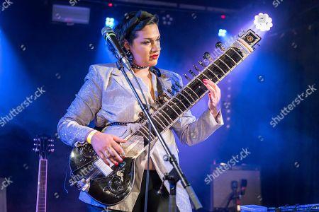 Editorial photo of Bishi in concert, Wardrobe,  Leeds, UK - 02 Jun 2019