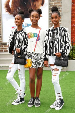 Jessie Combs, Chance Combs, D'Lila Combs (the daughters of Sean Combs) arrive for the premiere of The Secret Life of Pets 2 at the Regency Village Theater in Westwood, Los Angeles, California, USA, 02 June 2019. The movie opens in the US on 07 June 2019.