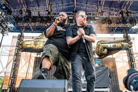 Killer Mike, El-P. Killer Mike, left, and El-P of Run The Jewels perform at the Bunbury Music Festival, in Cincinnati