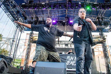 Stock Photo of Killer Mike, El-P. Killer Mike, left, and El-P of Run The Jewels perform at the Bunbury Music Festival, in Cincinnati