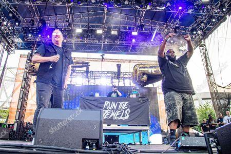 Stock Picture of El-P, Killer Mike. El-P, left, and Killer Mike of Run The Jewels perform at the Bunbury Music Festival, in Cincinnati