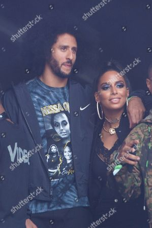Colin Kaepernick, Nessa Diab. Colin Kaepernick, left, and Nessa Diab are seen on stage at HOT 97 Summer Jam 2019 at MetLife Stadium, in East Rutherford, New Jersey