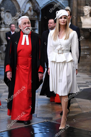 Sir Roy Strong and Ivanka Trump in Westminster Abbey