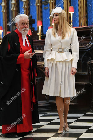 Stock Photo of Sir Roy Strong and Ivanka Trump in Westminster Abbey
