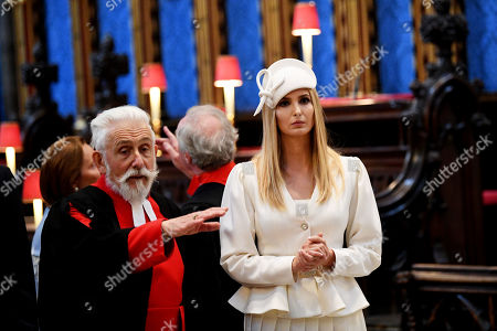 Stock Picture of Sir Roy Strong and Ivanka Trump in Westminster Abbey