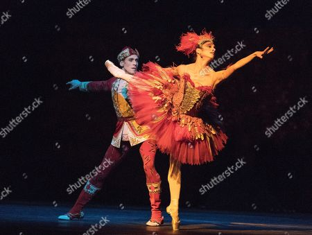 Stock Photo of Yasmine Naghdi as The Firebird, Edward Watson as Tsarevitch