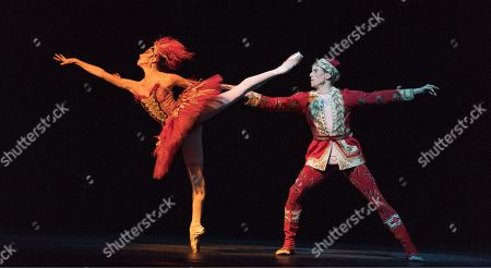 Stock Image of Yasmine Naghdi as The Firebird, Edward Watson as Tsarevitch
