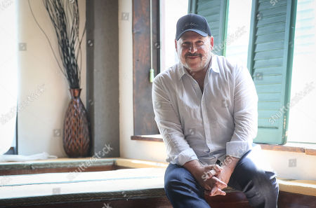 Stock Picture of Frank Wildhorn, US composer of the musical 'Excalibur,' poses for a photo during a press conference at a cafe in Seoul, South Korea, 03 June 2019.